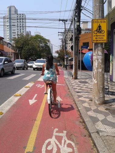 Ciclovia da Rua Artur de Azevedo, em Pinheiros e Ciclovia do Socorro, onde a demanda é frequente nos horários de pico.