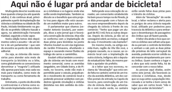 Artigo do Jornal Notícias da Região Sul (clique para ampliar)