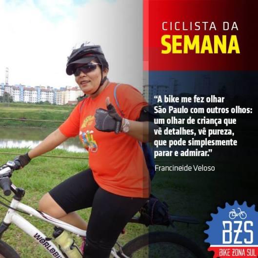 Francineide Veloso Bike Zona Sul