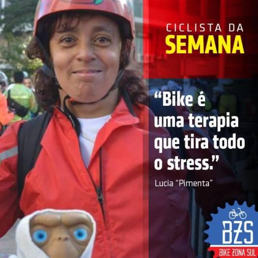 Lúcia Pimenta - Ciclista da Semana Bike Zona Sul