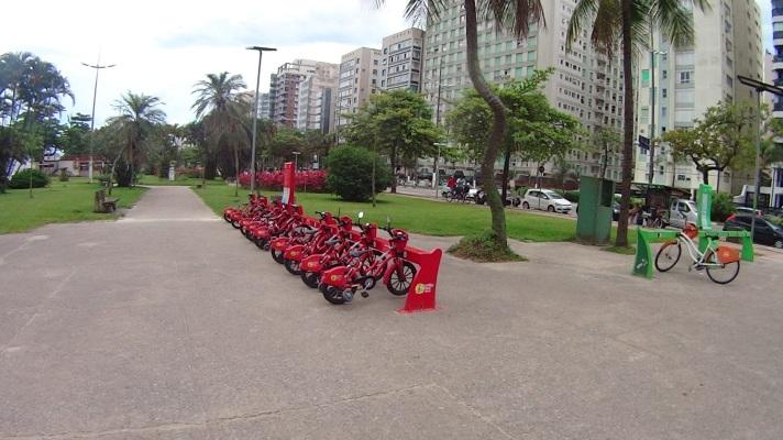 Bicicletas compartilhadas Santos Bike Zona Sul