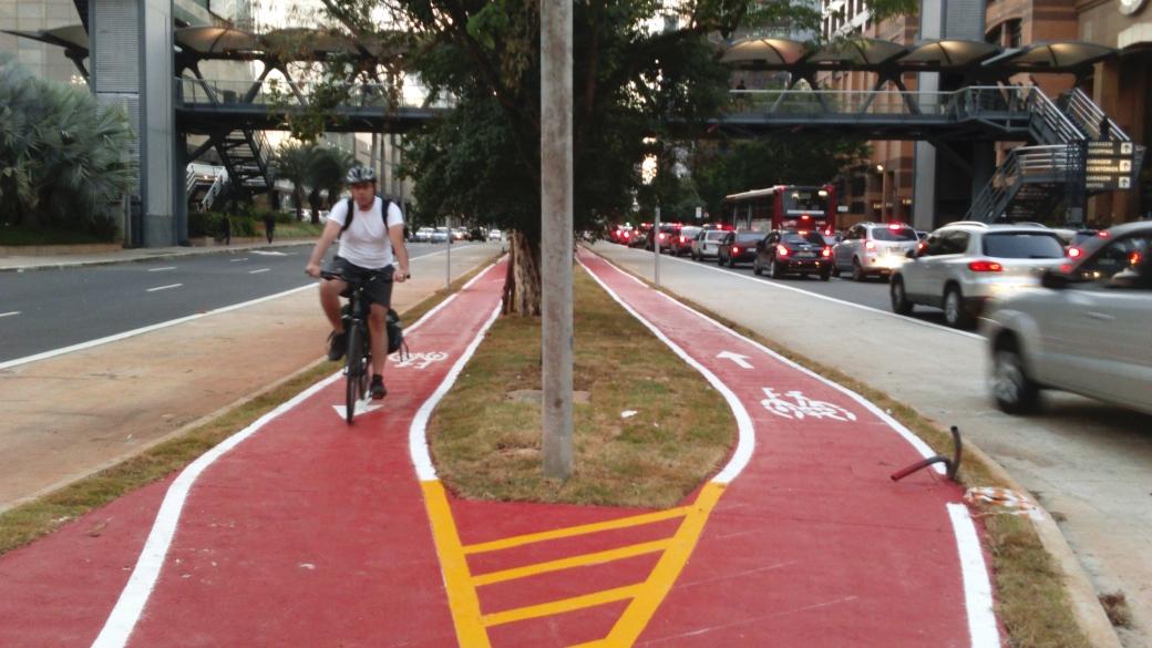 Rotas de ciclistas na Zona Sul