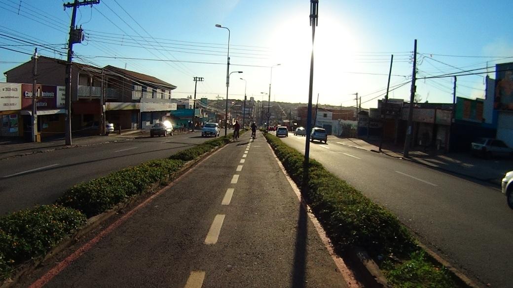 Ciclovia da Av. Ário Barnabé, Indaiatuba - SP Bike Zona Sul